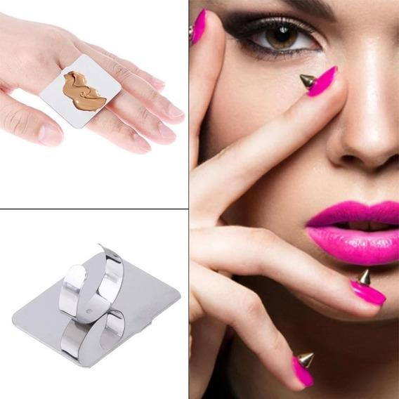 Mezclador Placa Forma De Anillo De Maquillaje Acero Inoxidab
