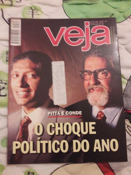 Revista Veja Antiga, O Choque Político Do Ano, De 1996.