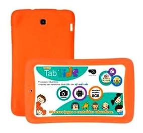 Capa De Borracha Tablet Dl Tab Kids Laranja