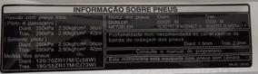 Adesivo Informação Sobre Pneus Honda Cbr650f Original