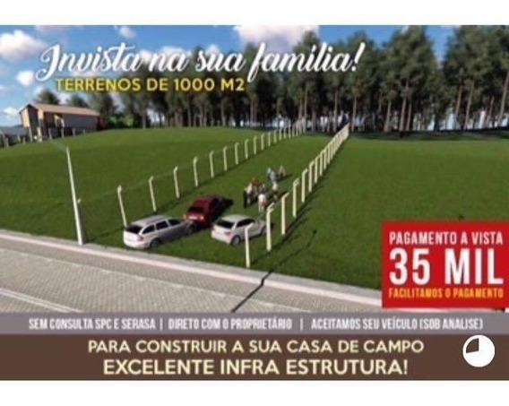 50c- Bom Terreno Pra Chacara 1.000 M2