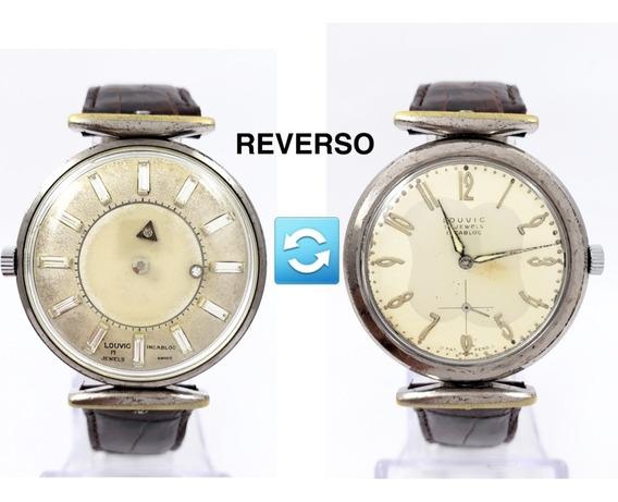 Reloj Louvic Reverso Cuerda Misterioso Longines Jaeger Raro