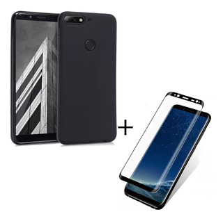 Funda Moto G7 Power Cover Case + Templado Full Cover