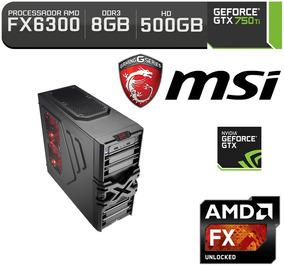 Computador Pc Gamer Fx 6300 Gtx 750 Ti 500gb Hd 8gb Ram Ssd