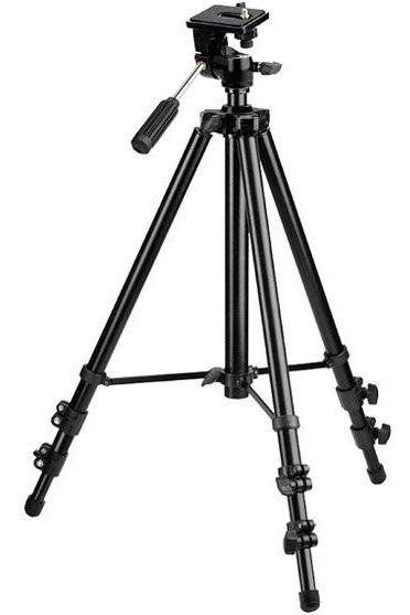 Tripé Para Câmeras Star 153 Cm Suporta Até 3kg Aluminio