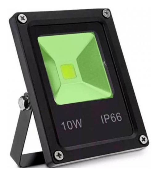 Kit 5 Refletor Holofote Led Verde 10w Bivolt Prova D