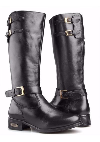 Bota Feminina Montaria Couro Legitimo Country Capelli Boots
