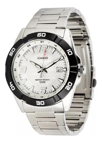 Relógio Casio Mtp-1292d-7avdf Prateado Masc De 400 Por 288