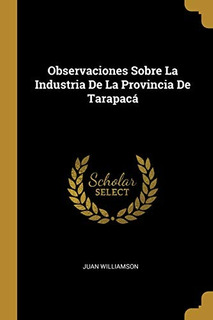 Observaciones Sobre La Industria De La Provincia De Tarapac