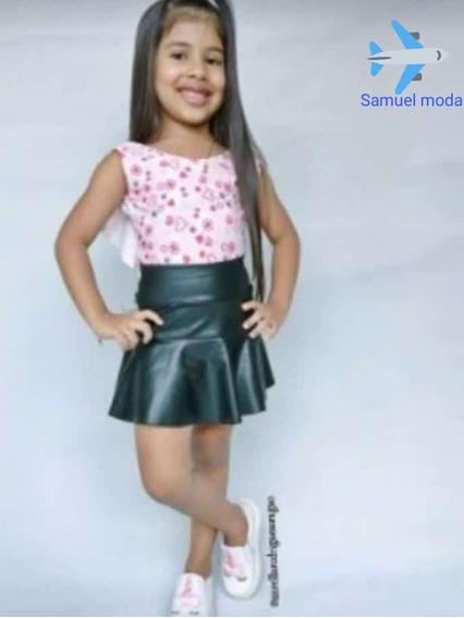 Saias Infantil Moda Feminina Evangélica Roupas,pretas