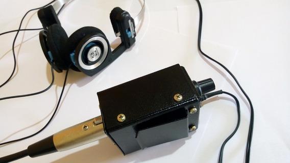 Retorno Monitor Xlr Macho Controle De Volume Para Dj Mixer In Ear Fone Ouvido Behringer Phonic Pionner Ha4700 8000 Air