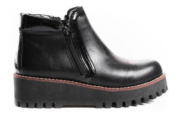 Borcegos Botas Zapatos Mujer Botinetas Plataformas Cuero