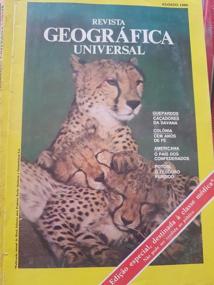 Coleção Revistas Geográfica Universal - 08 Exemplares