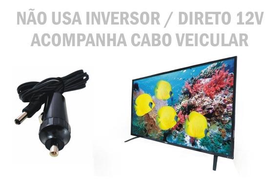 Tv Digital Conversor 24 Pol Led12 Volt Caminhao Onibus 12 V