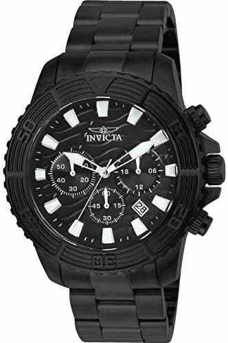 Relógio Invicta Em Aço Preto Modelo 24005 Original.