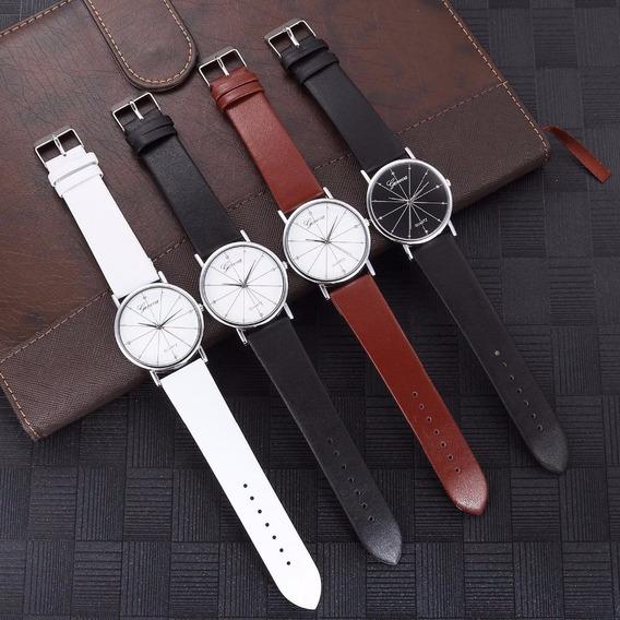 Lote De 10 Relojes Original Geneva Hombre De Cuarzo