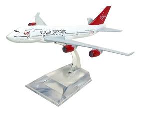 Avião Comercial Virgin Atlantic Boeing 747 Metal Miniatura
