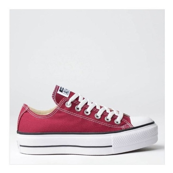 Tênis All Star Flatform Bordo Ct09630010 Original C/nota