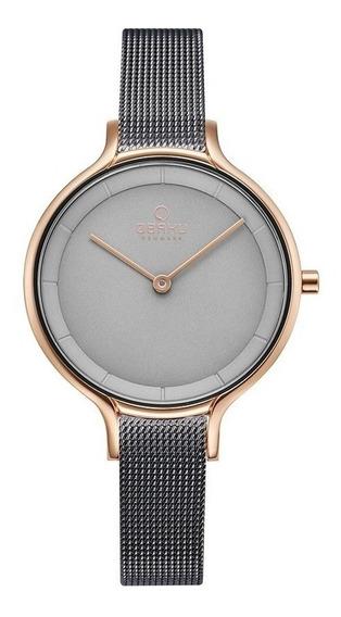 Reloj Obaku V228lxvjmj Acero Gris-oro Rosa De Dama Original