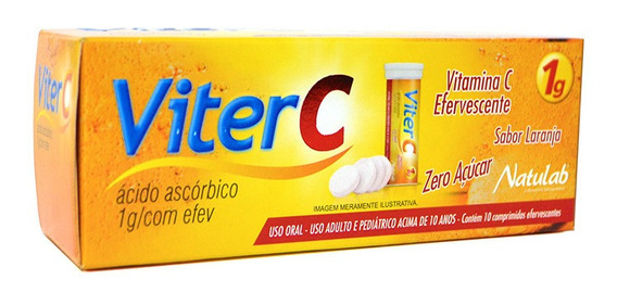 24 Unid Viter 1g C/10 Cpr Efervescentes Vitamina C Natulab