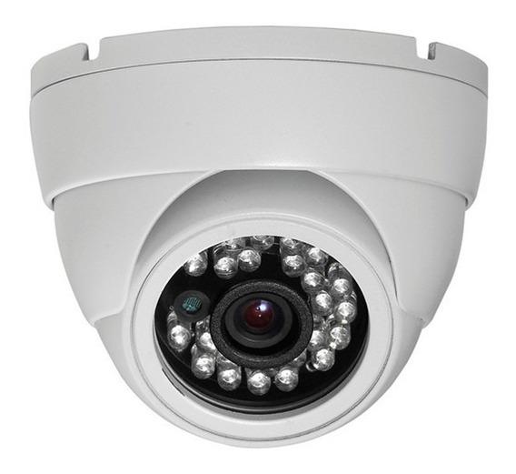 Camera Dome Ccd Infra Vermelho 24 Leds 20mts 1000linha 3,6m