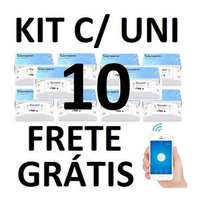 Kit 10 Unidades Sonoff Switch Interruptor Inteligente Wifi