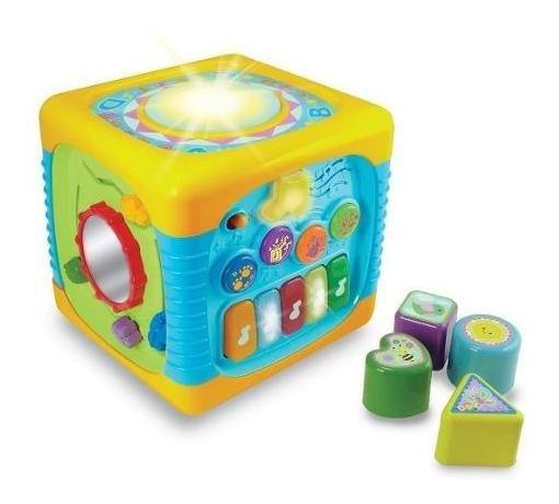 Jogo Para Bebê Com Som E Luz Cubo De Atividades