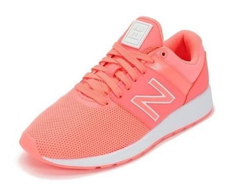 Zapatillas New Balance Wrl24 Td Lifestyle Urbana Mujer Coral