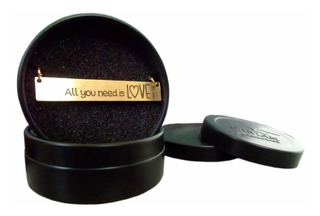 Collar Acero Inoxidable Baño De Oro Saman All You Need Love