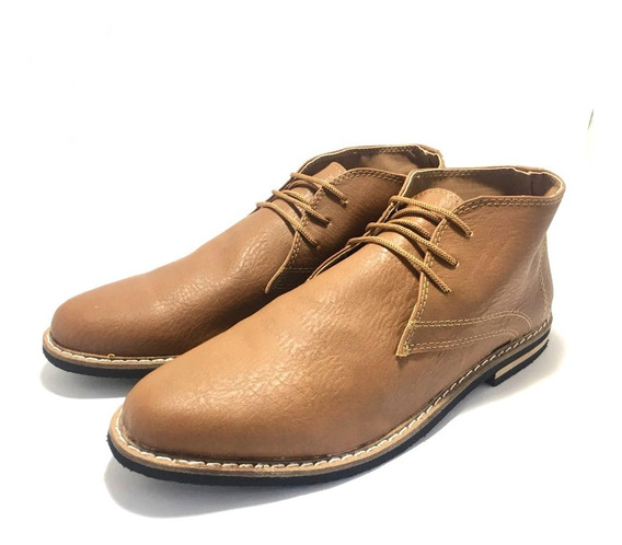 Zapato Botita De Hombre Simil Cuero