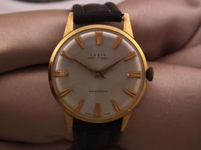 Relogio Levis Automatic Ancre Em Ouro 750 17 Rubis J10933