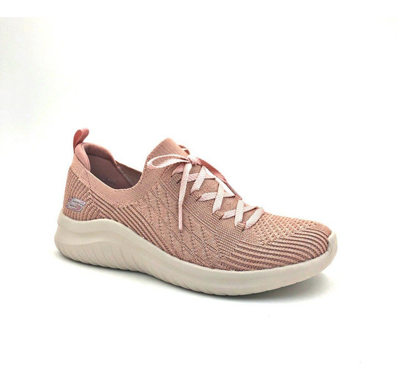 Tênis Skechers Feminino Rosa Ultra Flex 2.0 Leve Macio