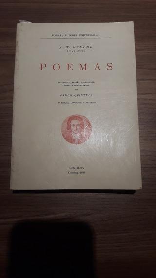 Livro Poemas Goethe - Edição Portuguesa Rara
