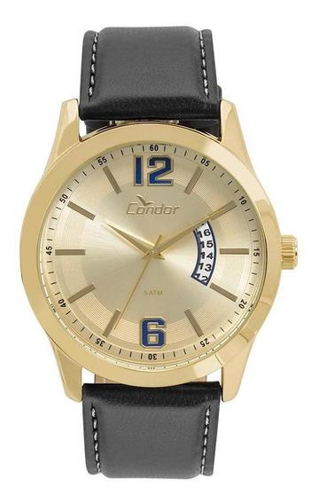 Relógio Condor Masculino Pulseira De Couro Co2115ksx/2d