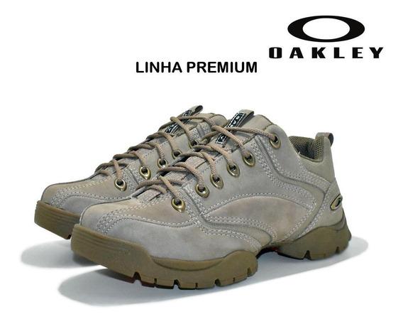 Tênis Bota Oakley Halftrack Low Masculina Couro Cinza