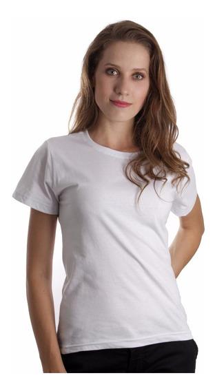 Kit C/5 Baby Look Feminina Lisa Básica Camiseta Blusinha