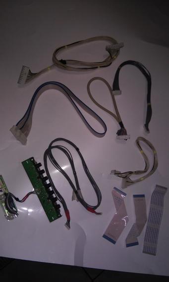 Kit Cabo Flat Lvds Sensor Teclado Conectores Tv Lg 42pg20r