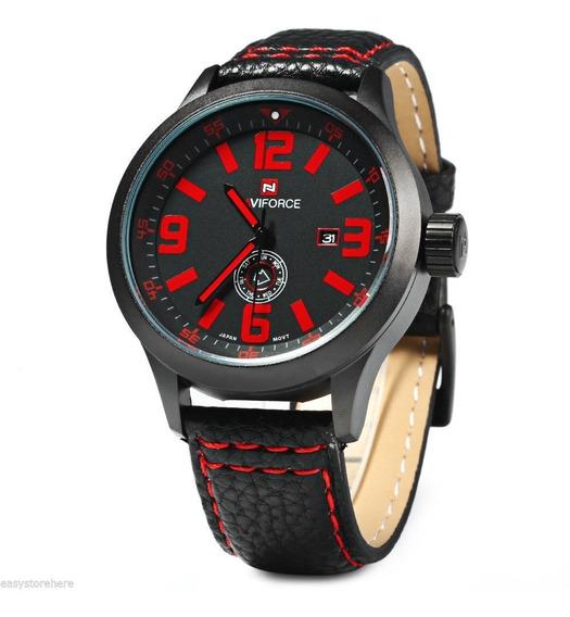 Relógio Masculino De Pulso Naviforce Nf9057 Quartzo Semana