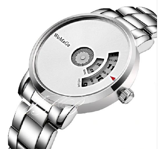 Relógio Inoxidável Social Luxo Unissex Barato