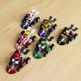 Kit 6 Carrinhos Super Mario Kart C Friçcão Boneco Brinquedo