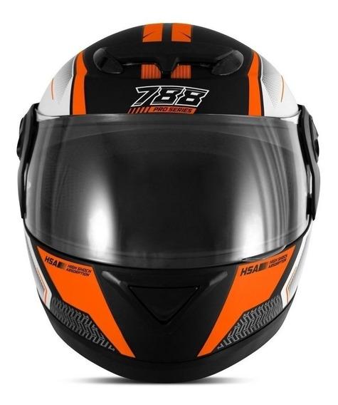 Capacete para moto integral Pro Tork Evolution G6 Pro Series laranja L