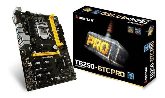 Placa Mãe Biostar Tb250-btc Pro 12 Pci-e, Intel, Mineração