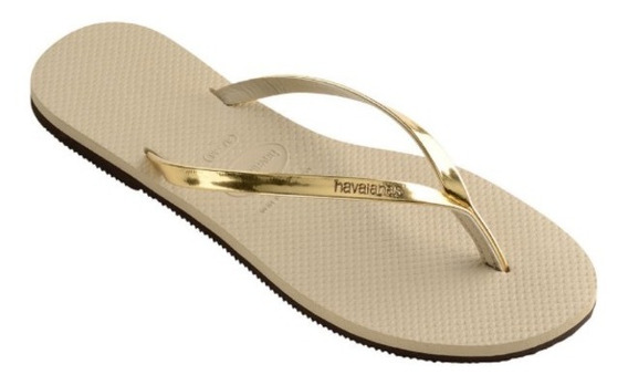 Ojotas Havaianas You Metallic Dorado Plateado Mujer Sandalia