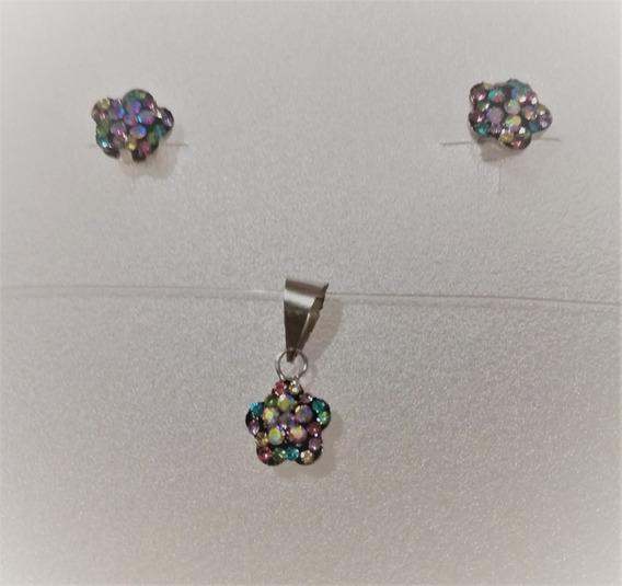 Espiga de pendientes de plata esterlina 925 6 Mm Cubo cristales de Swarovski ®