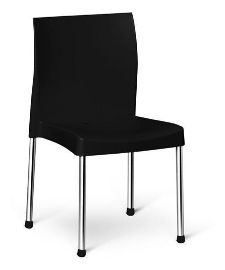 Cadeira Resistente Varanda Churrasco Cozinha Preta Pracasa
