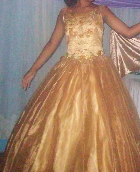 Vestido De 15 Años Color Ocre