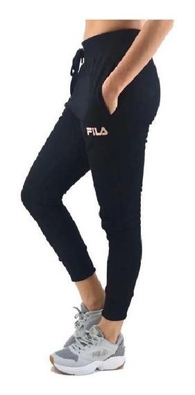 Pantalon Fila Lifestyle Mujer Thelma Negro - Rosa Clic