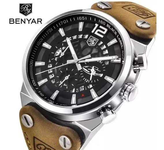 Relógio Esportivo Legítimo Benyar 3 Bar Cronógrafo Militar