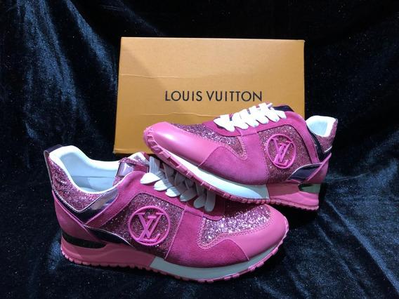 Tenis Louis Vuitton Sneakers Pink Glitter Trendy 2019