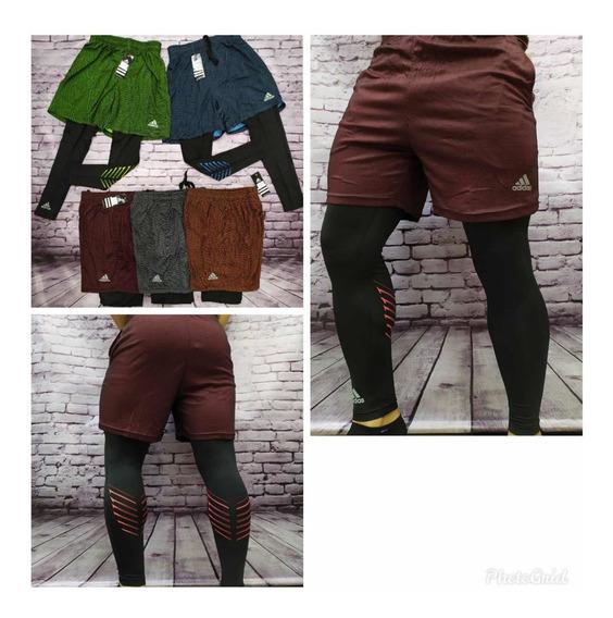 Pantaloneta Y Licra Calentador Para Caballero